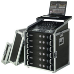 "Reloop 19"" Rack Case 12 RU PRO w. laptop stand"