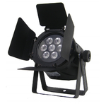 Flash LED PAR 36 7X10W RGBW 4W1 DMX + BARNDOOR