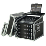 "Reloop 19"" Rack Case 8 RU PRO w. laptop stand"