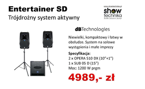 dbTechnology Entertainer SD, zestaw 2+1 (1200W)