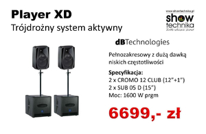 dbTechnology Player XD zestaw 2+2 (1600W)